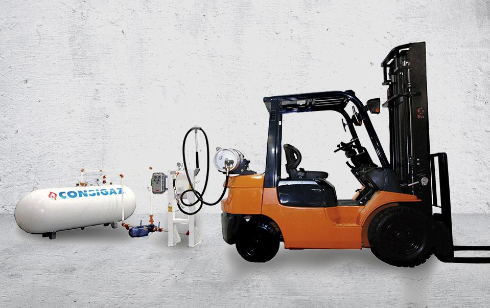 gás para empilhadeiras