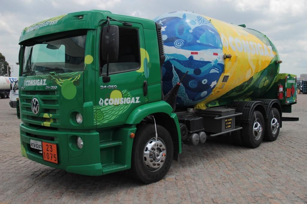 Caminhão temático Brasil